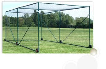 Cricket ground accessories ball throwing machine movable for Indoor cricket net design